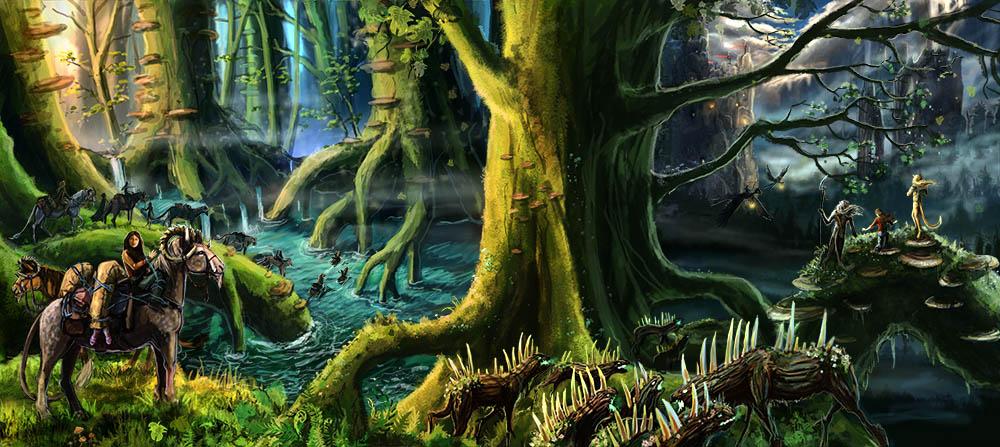 Die Reise durch den Gesternwald