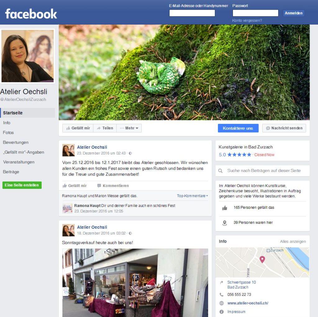 Atelier Oechsli auf Facebook