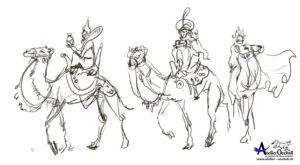 Drei Könige - Skizze