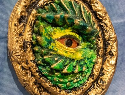 Magisches Auge in grün